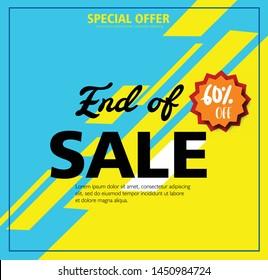 Sale banner template design, colorful background. Big sale special offer. end of season special offer banner. vector illustration.
