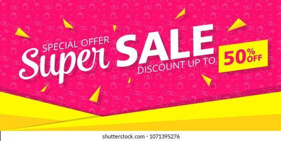 Sale Banner Template Design. Sale and discount. Vector Illustration