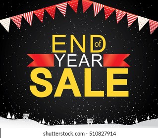Sale banner template design, End of year sale, sale promotions, Template background, Vector EPS10.