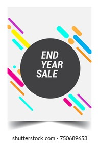 Sale banner template design, End of year sale, sale promotions, Modern and colorful Template background, Vector EPS10.