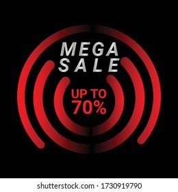 Sale banner template design, Flash sale up to 70%. Super Sale, end of season special offer banner. vector illustration.