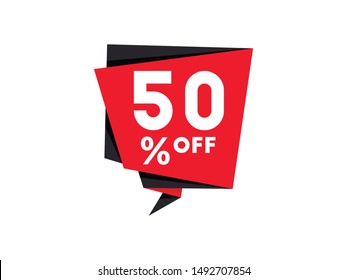 Sale banner template design isolated on white