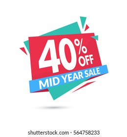 Sale banner template design. Mid year sale