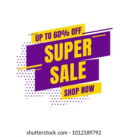 Sale banner template design. Vector illustration