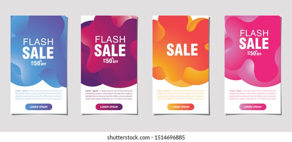 Sale banner template. Modern design covers on gray bacground for website, poster, flayer or presentation and advertising. Abstract trendy fluid bacground special offer eps 10