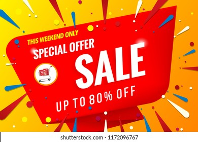sale banner template red