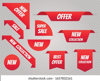 Sale banner template set. Price tags. Vector illustration EPS10