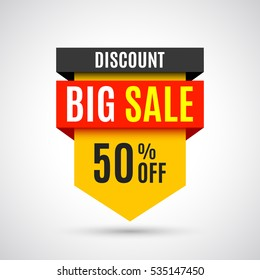 Sale banner. Vector illustration.