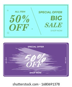 SALE BANNER VOUCHER BLACK FRIDAY TEMPLATE