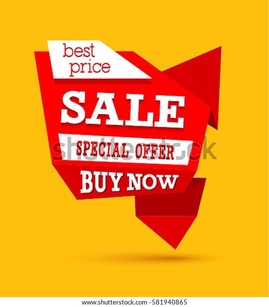 Sale Best Price Banner. Vector illustration.