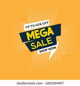 Sale Big banner template design, sale special offer. end of season special banner offer. vector illustration.