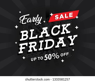 Sale black friday banner editable,