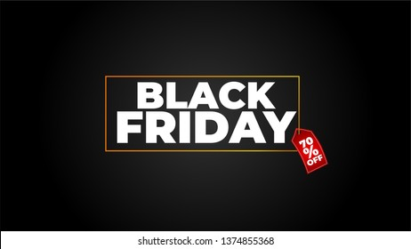 Sale black friday banner. Vector