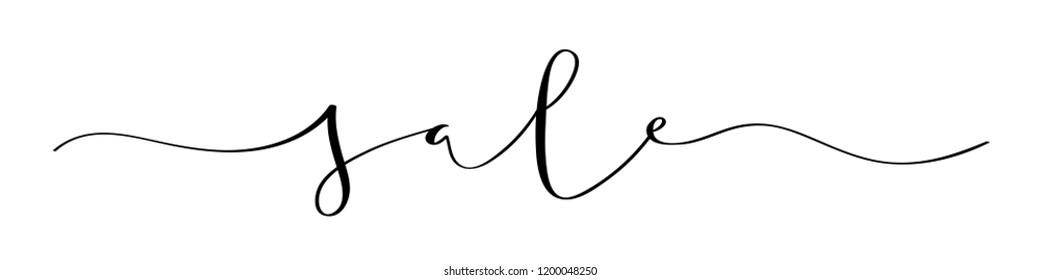 SALE brush calligraphy banner