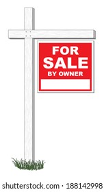 For Sale By Owner Sign is an illustration of a for sale by owner sign with space for you phone number or other information.