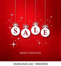 Sale. Christmas balls