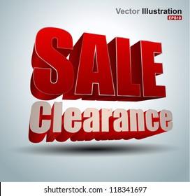Sale clearance vector