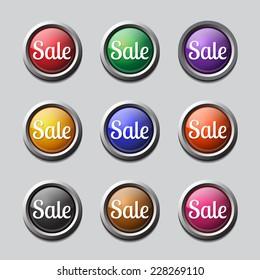 Sale Colorful Vector Icon Design