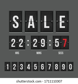 Sale countdown timer vector illustration isolated