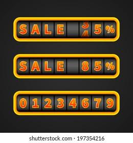 Sale counter