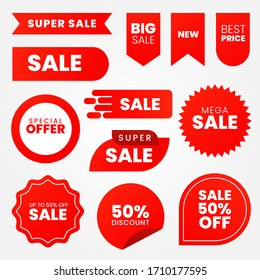 Sale - creative banner set vector illustration.concept discount promotion layout on white background