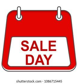 Sale day in form of calendar.Vector icon editable stroke