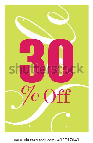 sale design creative template card poster stock vector royalty free