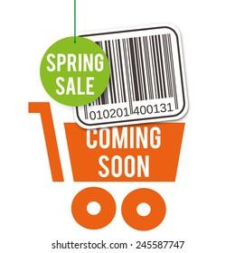 Sale design, decoration for shop windows and shops, illustration for shopping catalogs