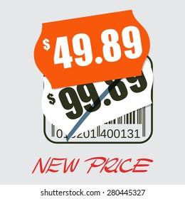 Sale design - new price tag