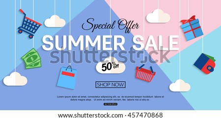 Sale Discount background for the online store, shop, promotional leaflet, poster, banner. Vector eps 10 format.