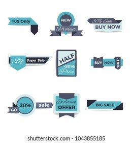 Sale And Discount Badges . Modern Tablets collection. Design elements.