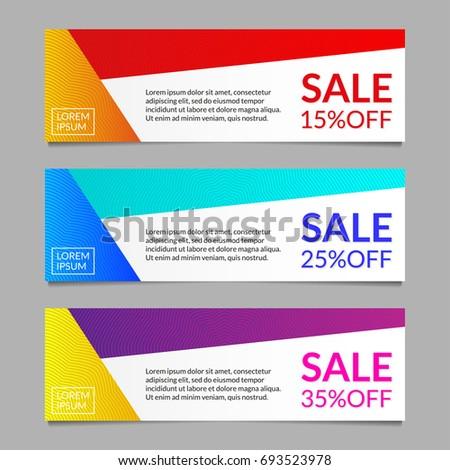sale discount banner design template set のベクター画像素材