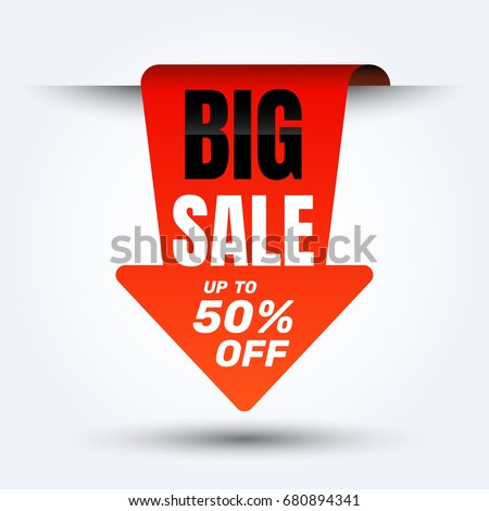 sale discount banner design layout online shopping stock vector