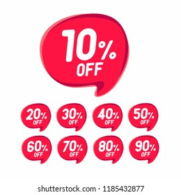 Sale Discount Banner. Discount offer price tag. Special offer sale red label. Vector Modern Sticker. vector