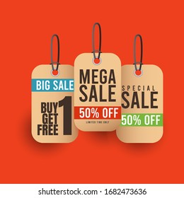 Sale discount banner template promotion