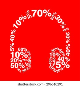 Sale & Discount Concept Word Cloud in Price Tag shape
