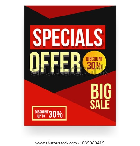 sale discount flyer template stock vector royalty free 1035060415