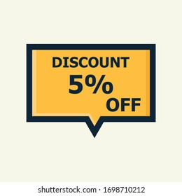 Sale discount icon. Special offer price signs, Discount 5% OFF