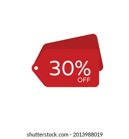 Sale discount icon. Special offer price signs, Discount 30% OFF