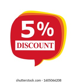 Sale discount icons. A 5% off discount