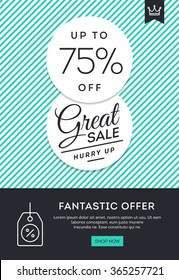 Sale, discount, online shopping, vector illustration