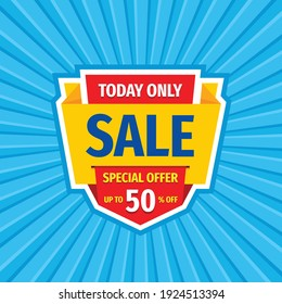 Sale discount - vector layout concept illustration. Abstract advertising promotion banner. Creative background. Special offer. Shop now. Graphic design elements.