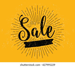 Sale. Drawn lettering. Vector typography. Usable for cards and posters, sale banners, billboards and sale signs.