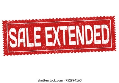 Sale extended grunge rubber stamp on white background, vector illustration
