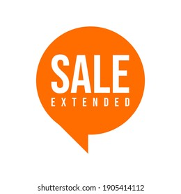 Sale Extended Shopping Icon Label Design Vector