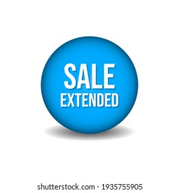 Sale extended shopping web button design vector