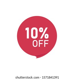 Sale frame, sticker, mega cost reduction, 10% off isolated on white background with shadow effect EPS Vector