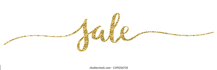 SALE gold brush calligraphy banner