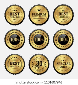 Sale golden badges and labels collection