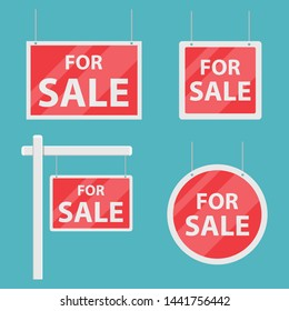 For sale house sign vector design illustration isolated on blue background